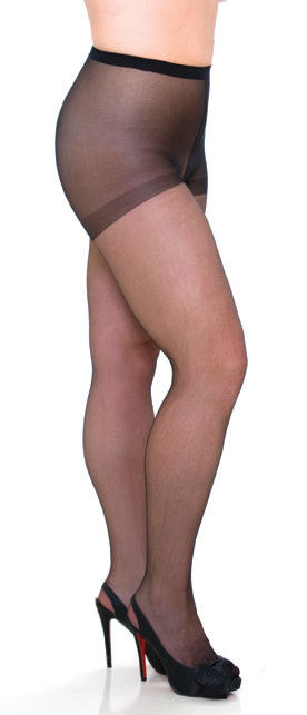 Plus Size Sheer Black Tights