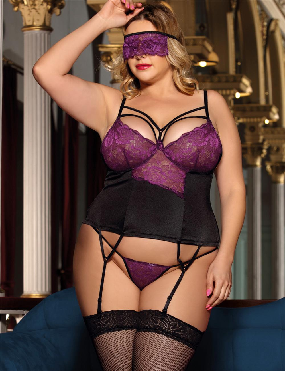 Purple Bustier & Blindfold