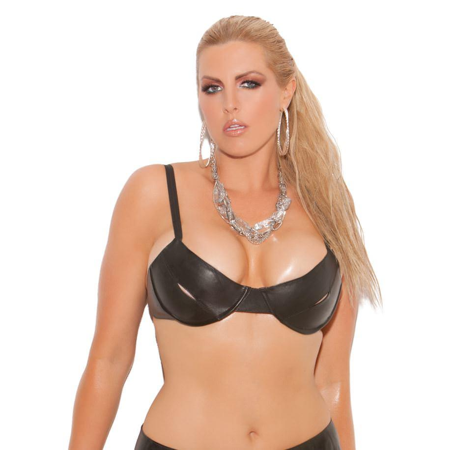 Peek-a-Boo Leather Bra