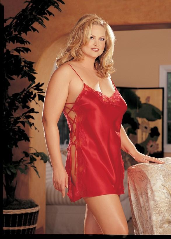 Cherry Red Side Tie Babydoll
