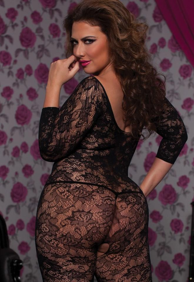 Floral Bodystocking rear