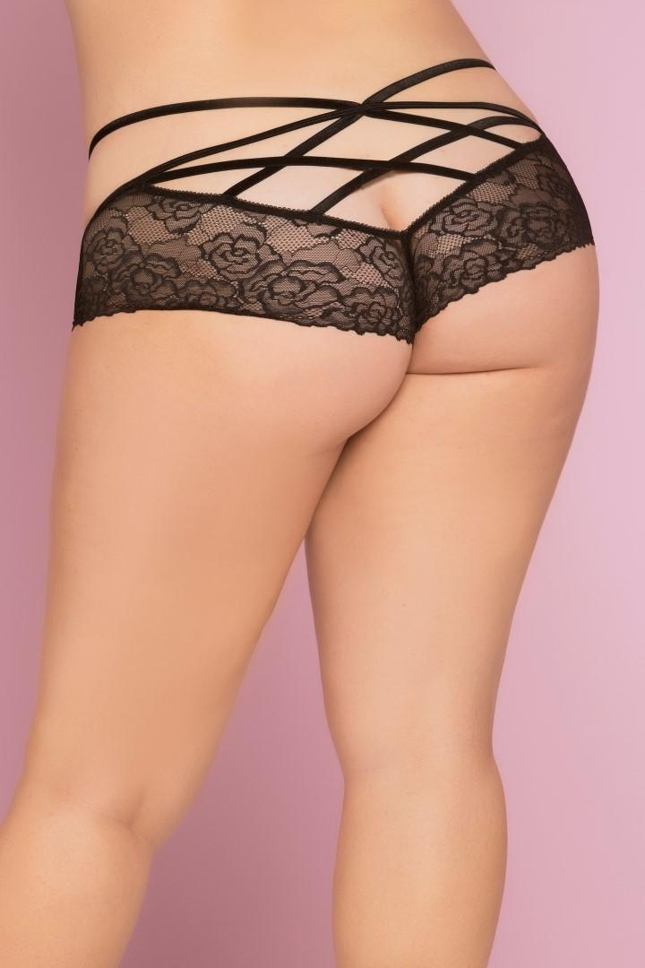 Bianca Lace Panty & Bra black rear view