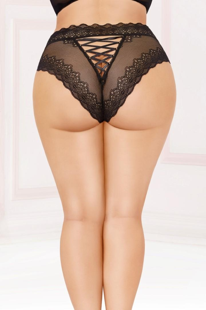 Plus size high waisted briefs