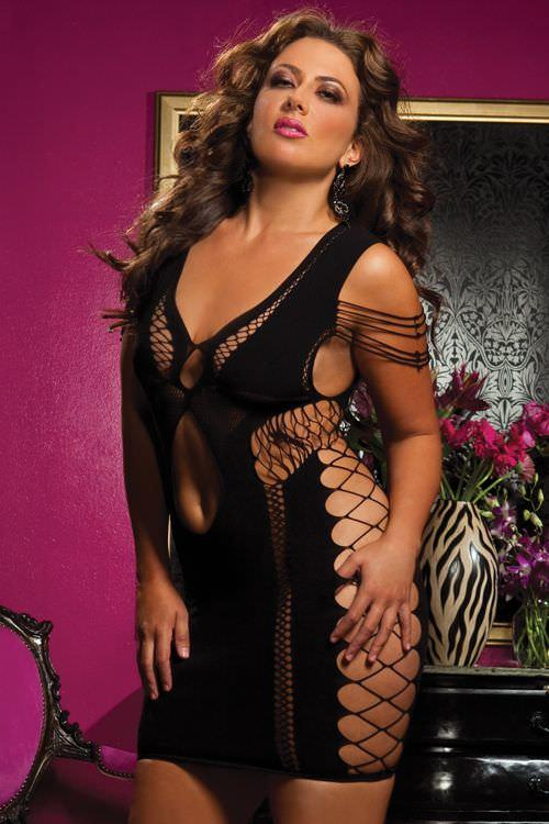 Flirtatious Fishnet Dress