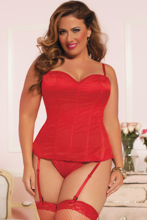 Knock Out Red Satin Corset