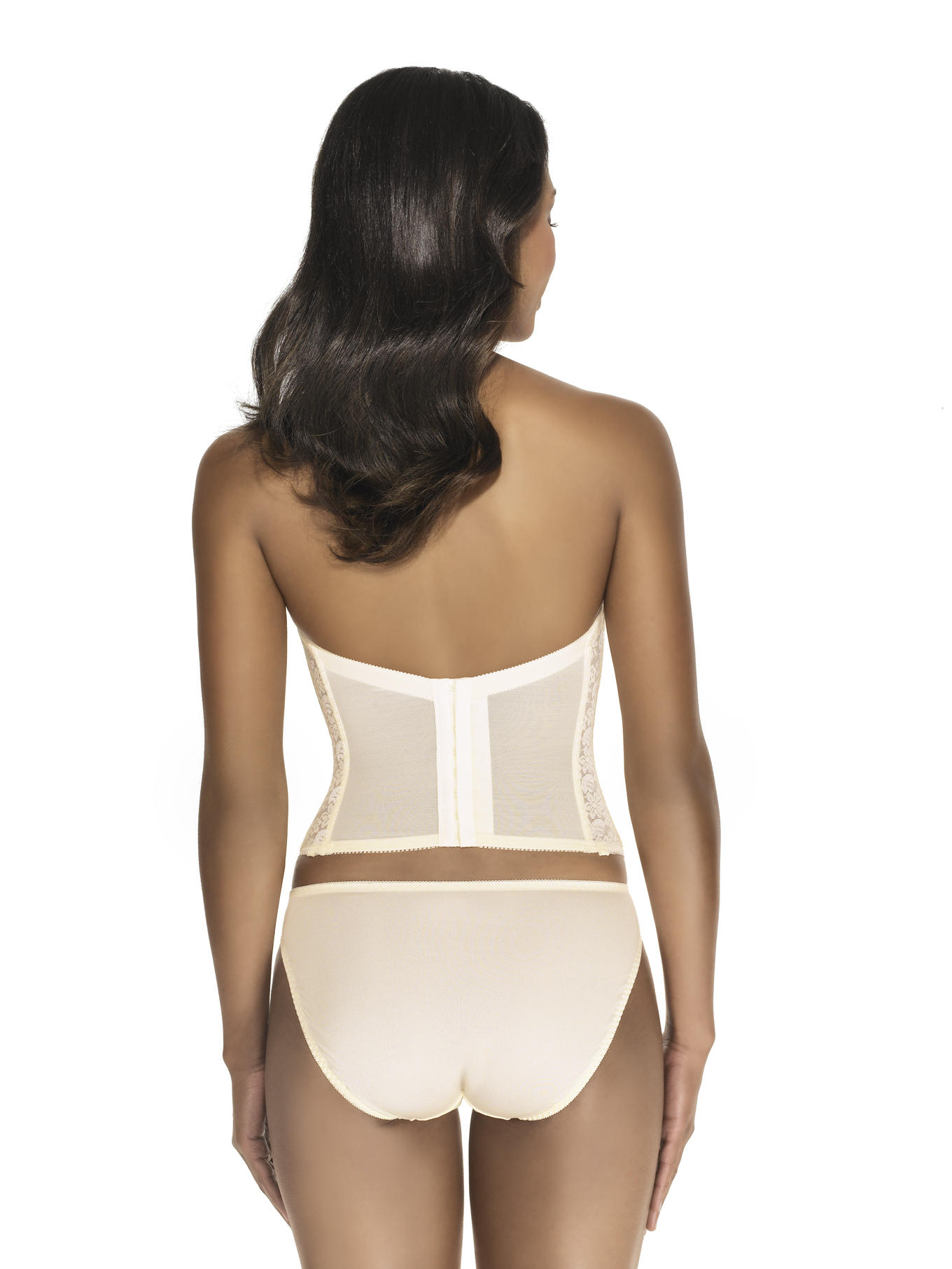 Low Back Plunge Strapless Bustier
