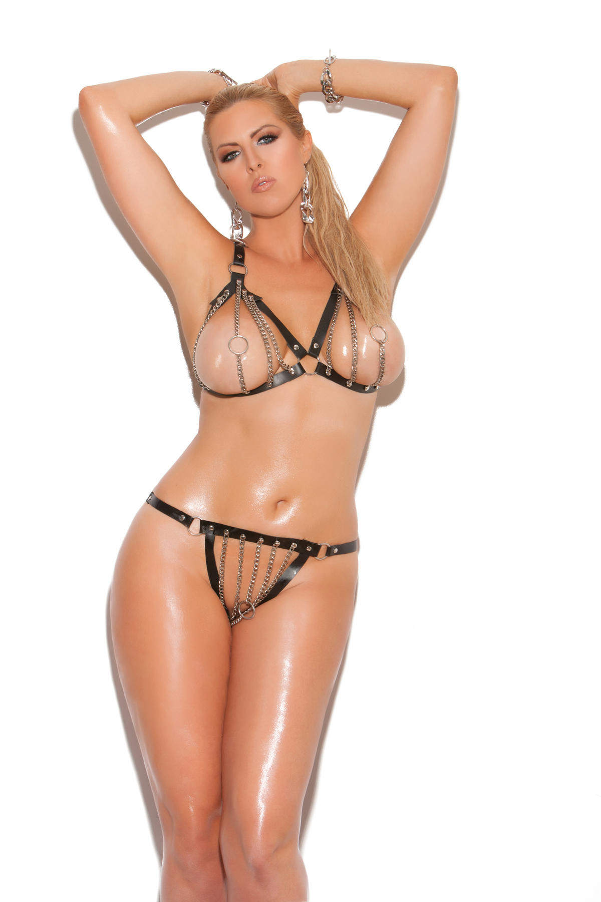 Plus Size Leather Lingerie, Sexy Plus Size Leather Lingerie