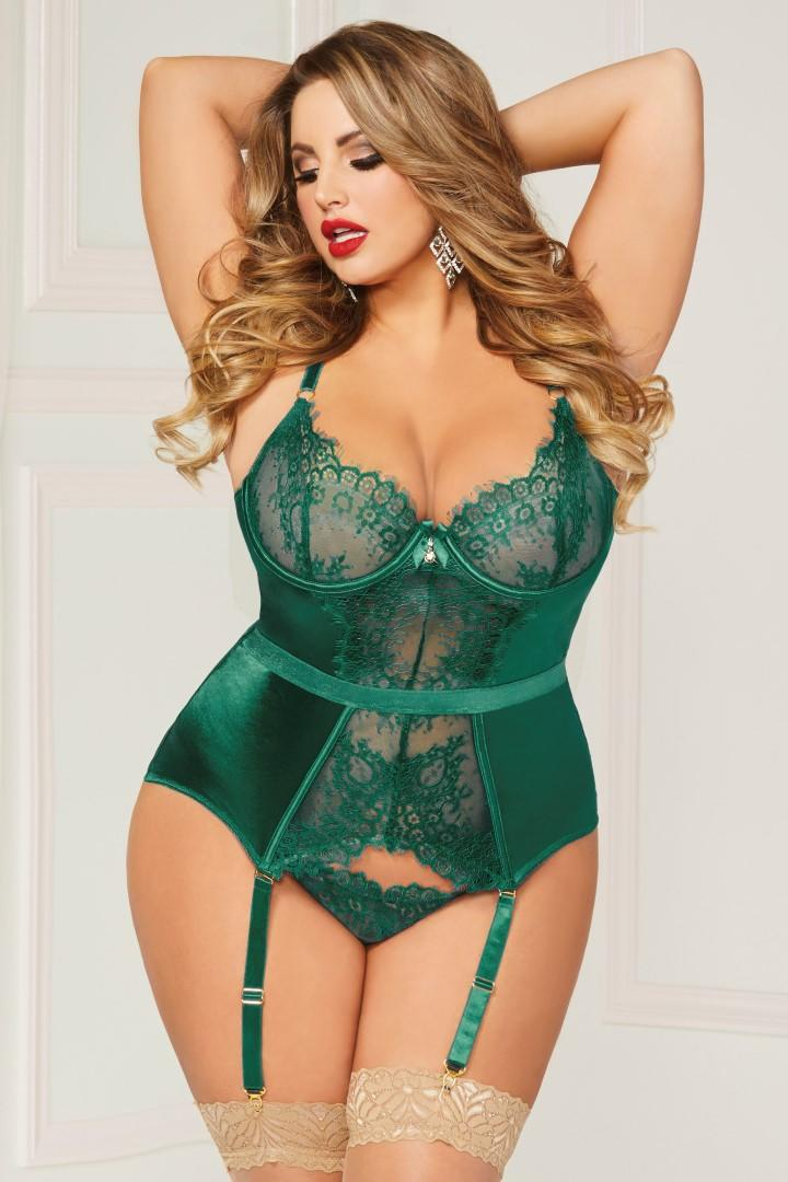 Green Bustier set