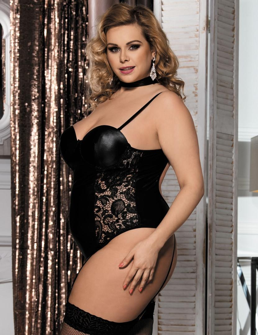 Plus size one piece teddy