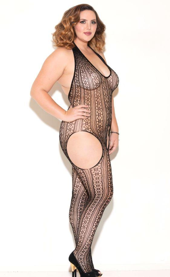 Open Crotch Bodystocking side view
