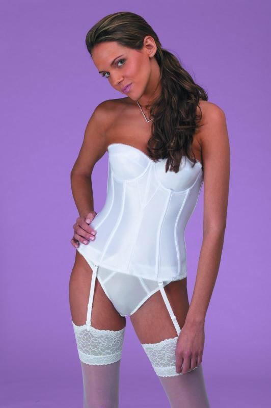 fdbc13f39d9 Beautiful Bride s Strapless Basque for the fuller figure.