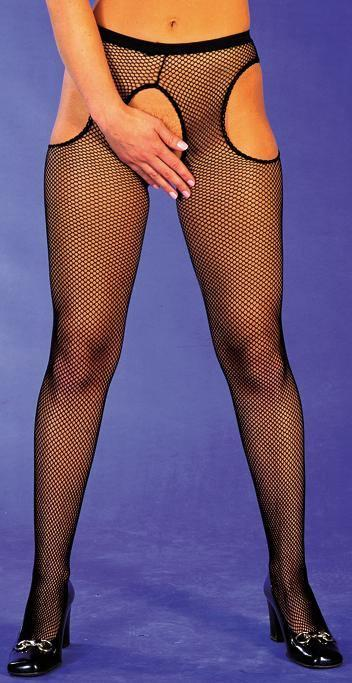 Plus Size Fishnet Suspender Tights