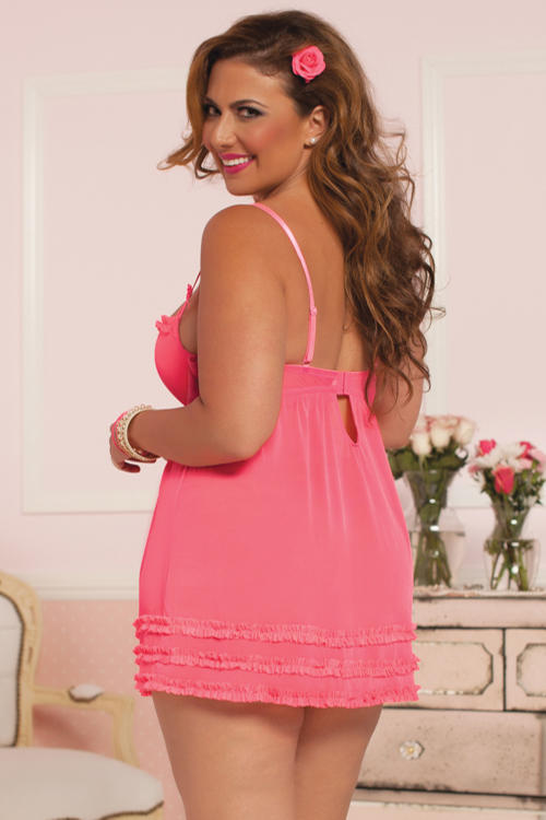 Coral Fun & Frills Babydoll rear