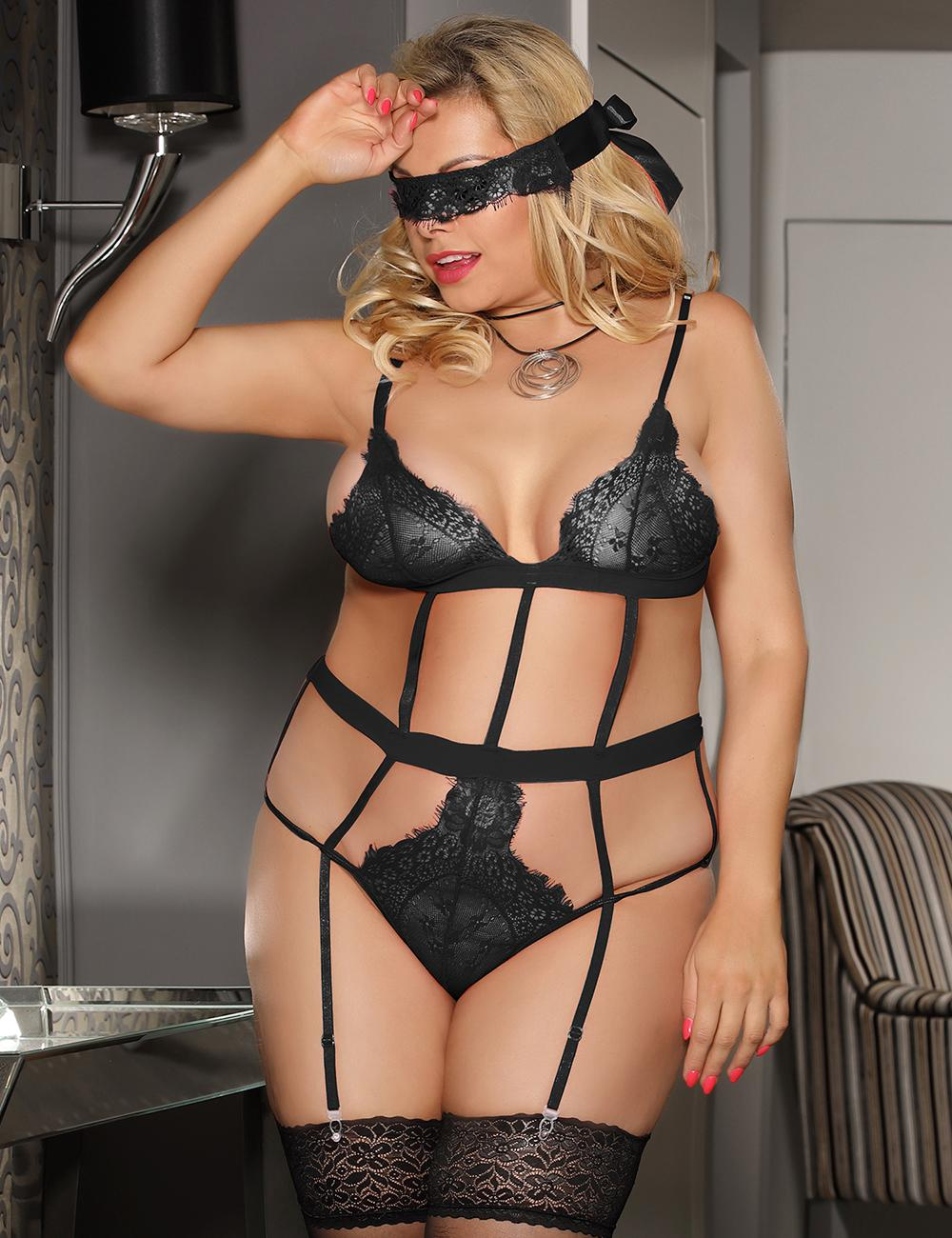 Black Love Affair Lace Teddy
