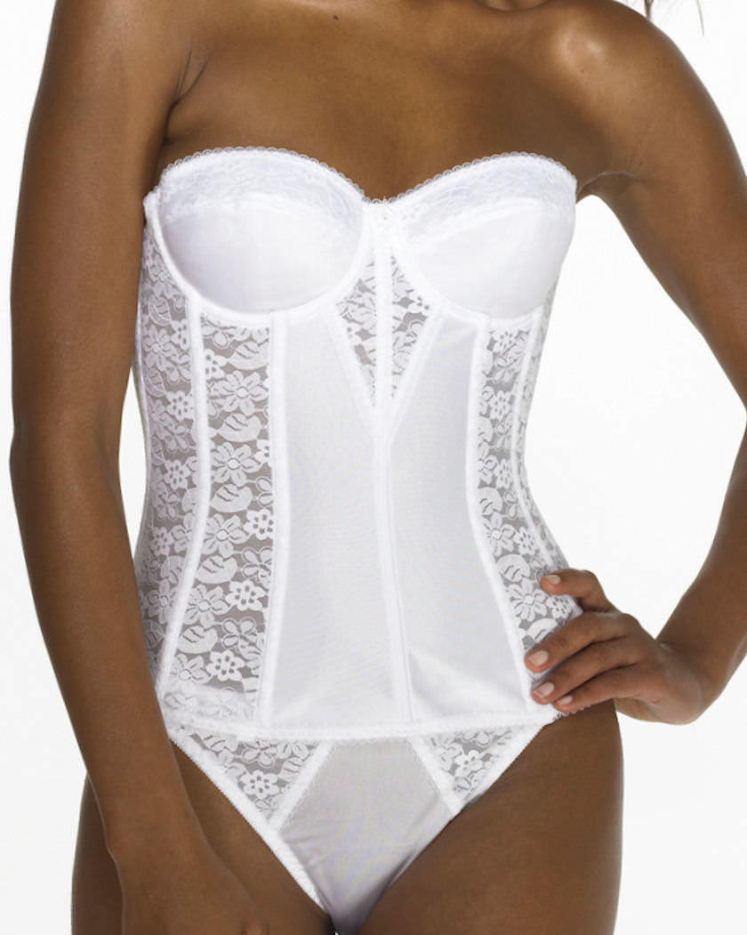 0f28c957c65 Sexy strapless Basque for the fuller figure from Dominique