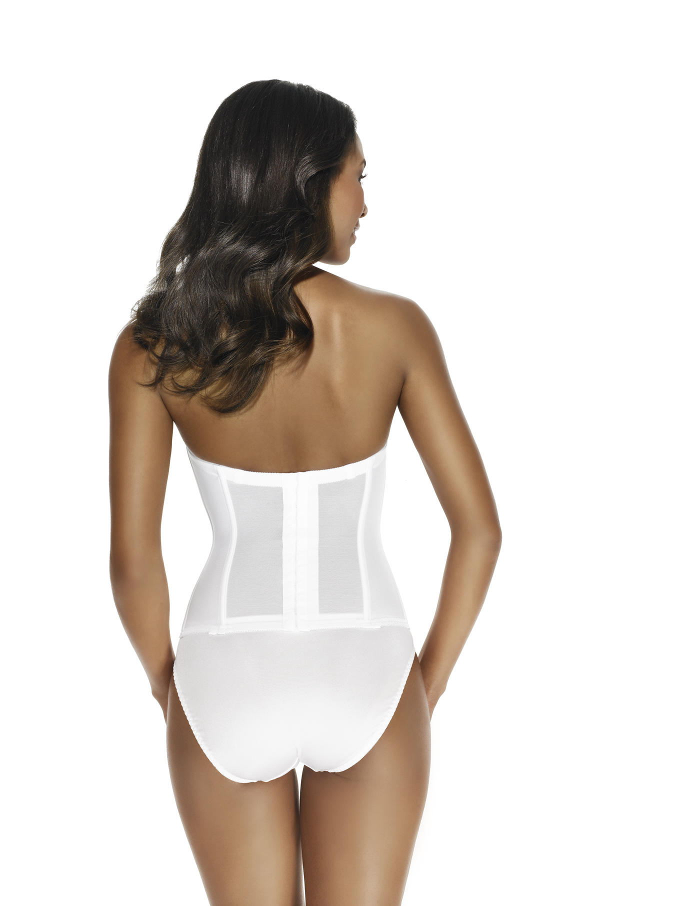 Bride's low back basque