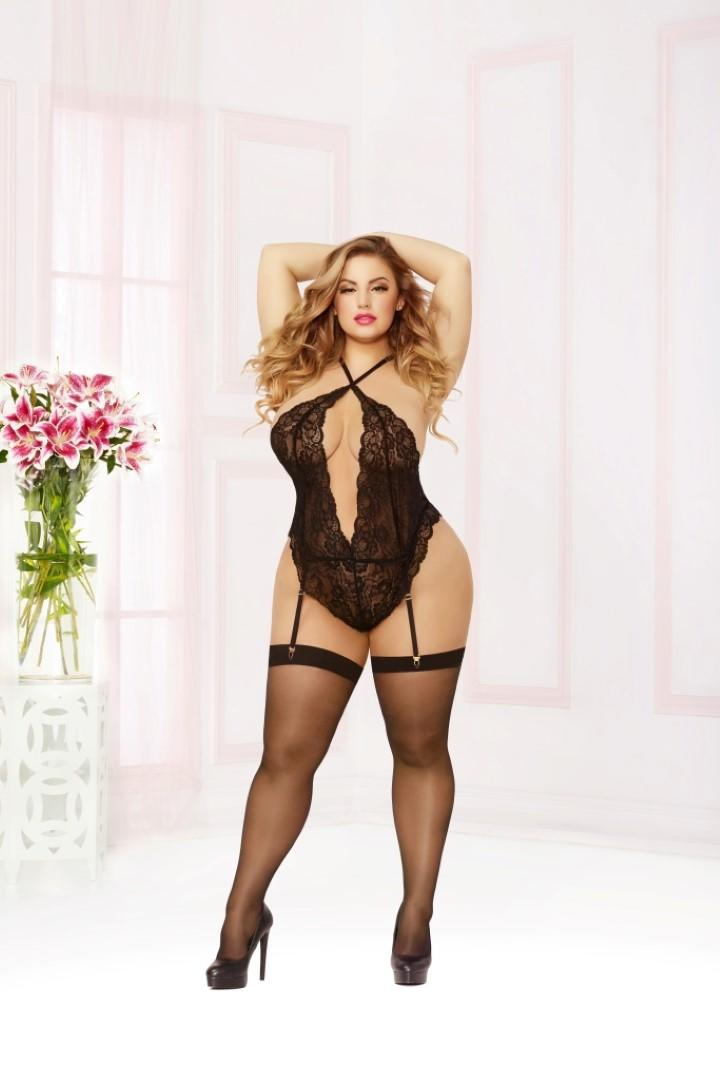 Black Lace Teddy