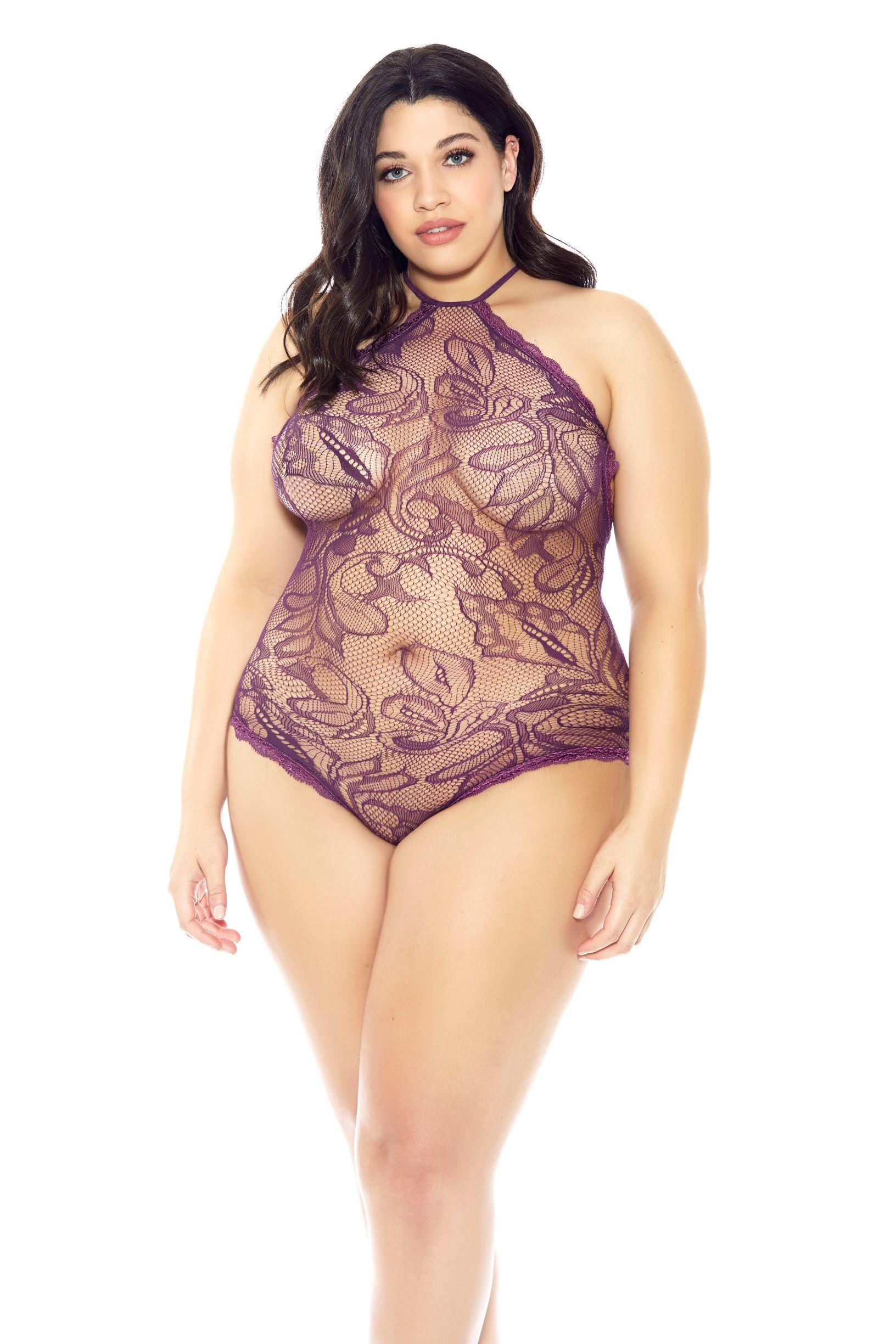 Purple Rain Plus Size Teddy