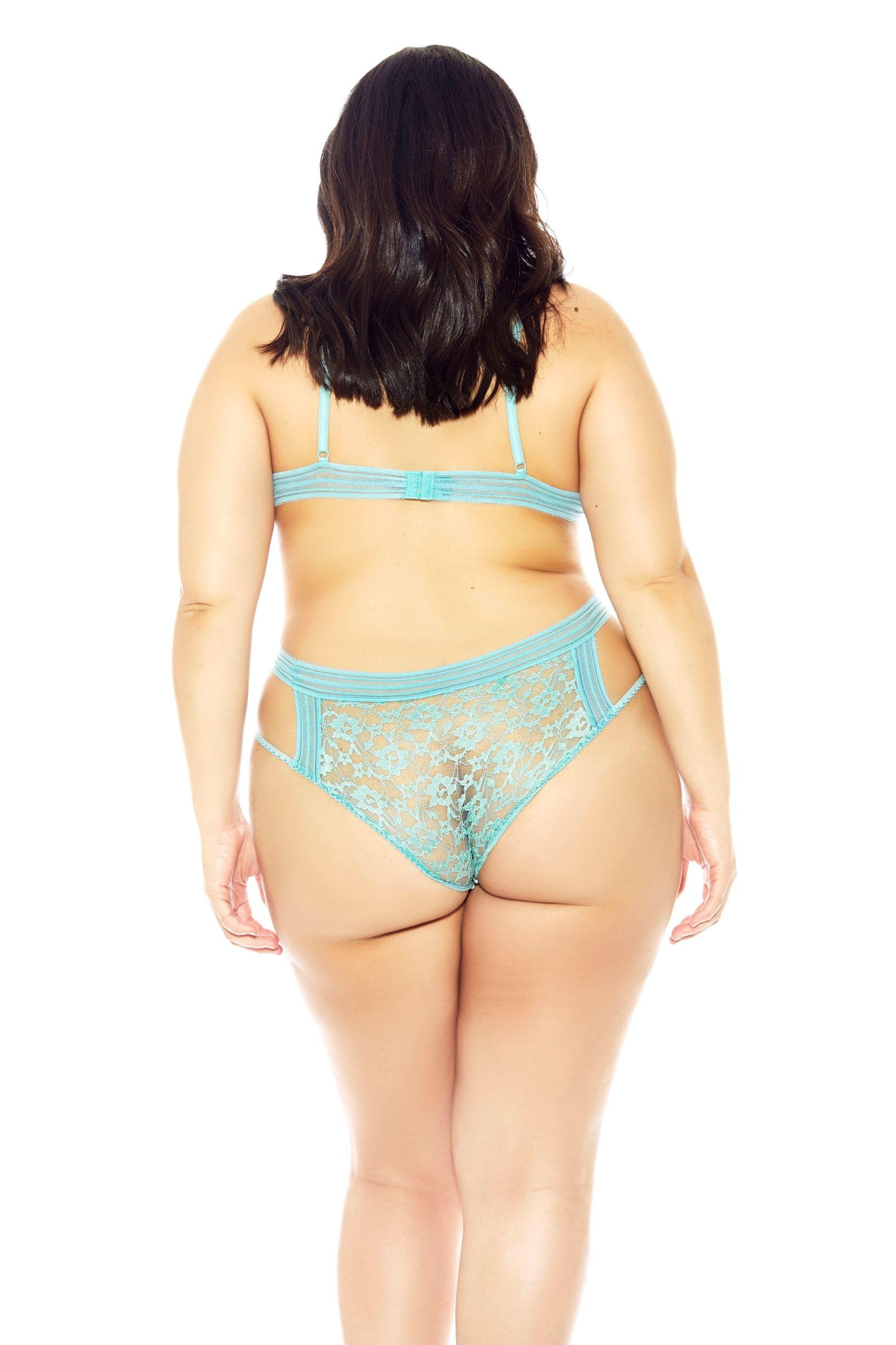 Mint Bella Bra Set rear view