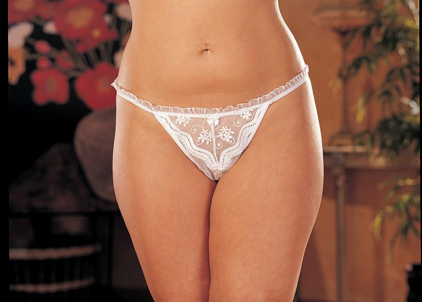 Lace open crotch knickers
