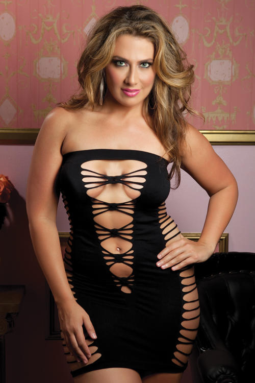 Black Seductress Tube Dress