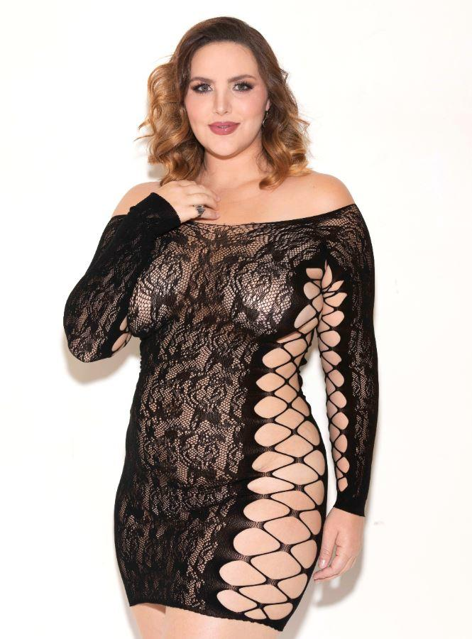 Black long sleeved chemise