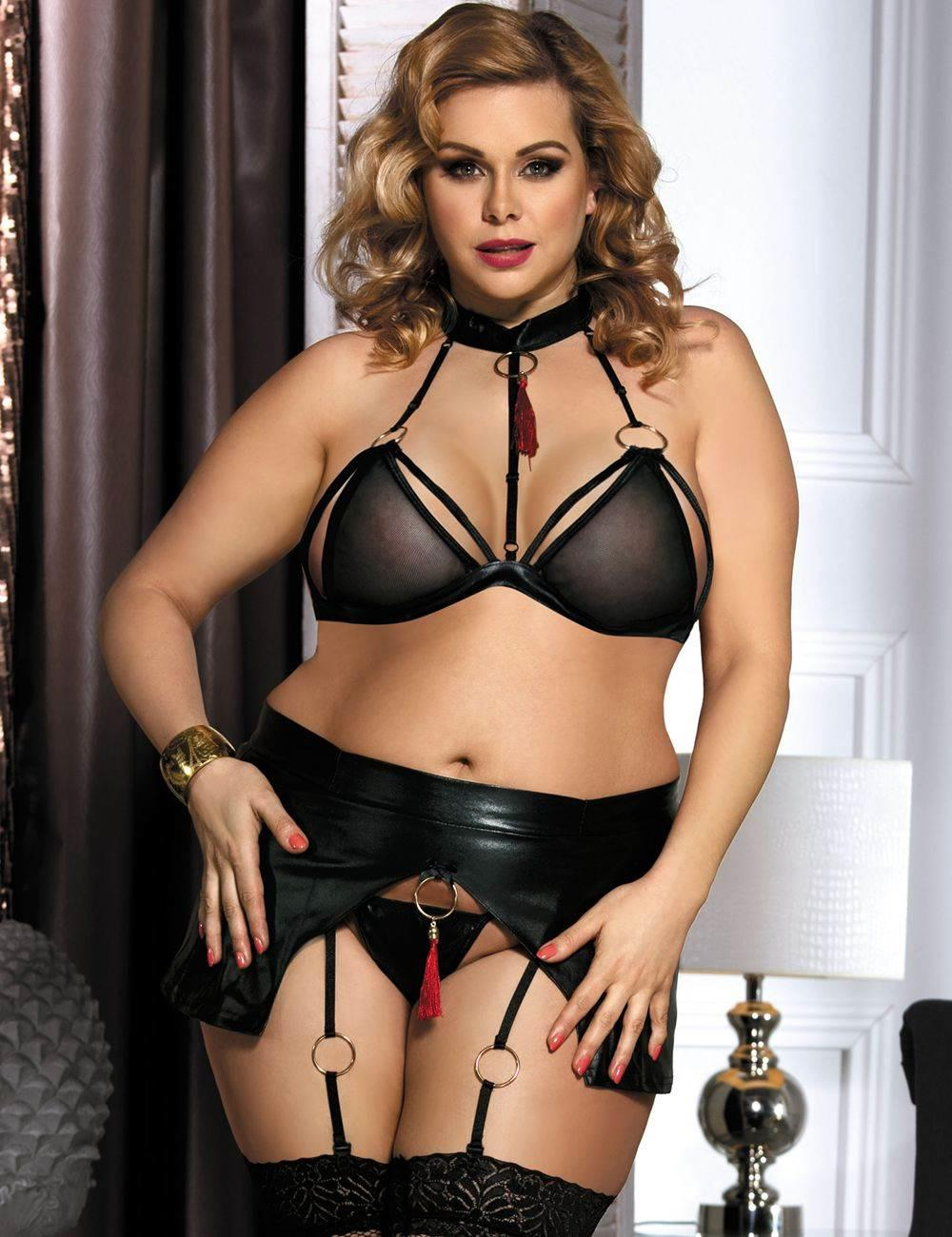 PVC Bra & Brief Set