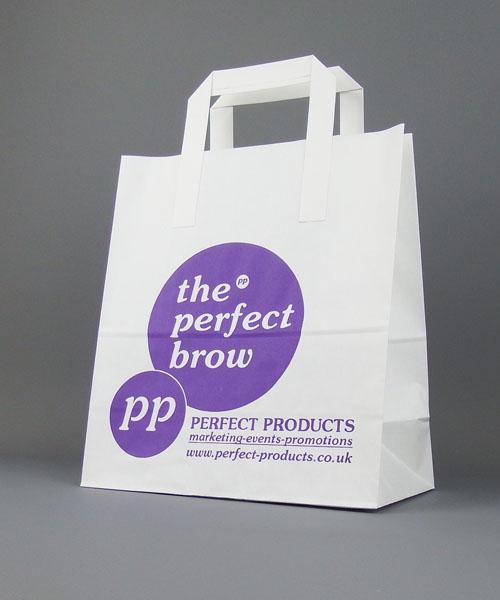 White Kraft Paper Bag Printed