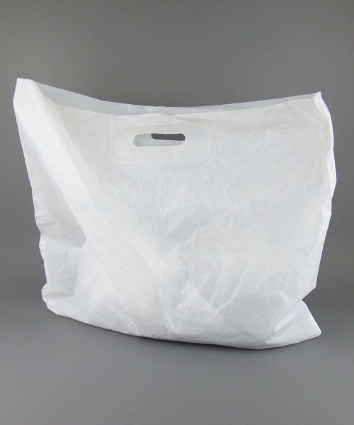 9583b979b8 100 Extra Large White Patch Handle Plastic Carrier bags