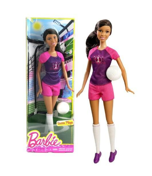 Barbie Football Player African American Doll