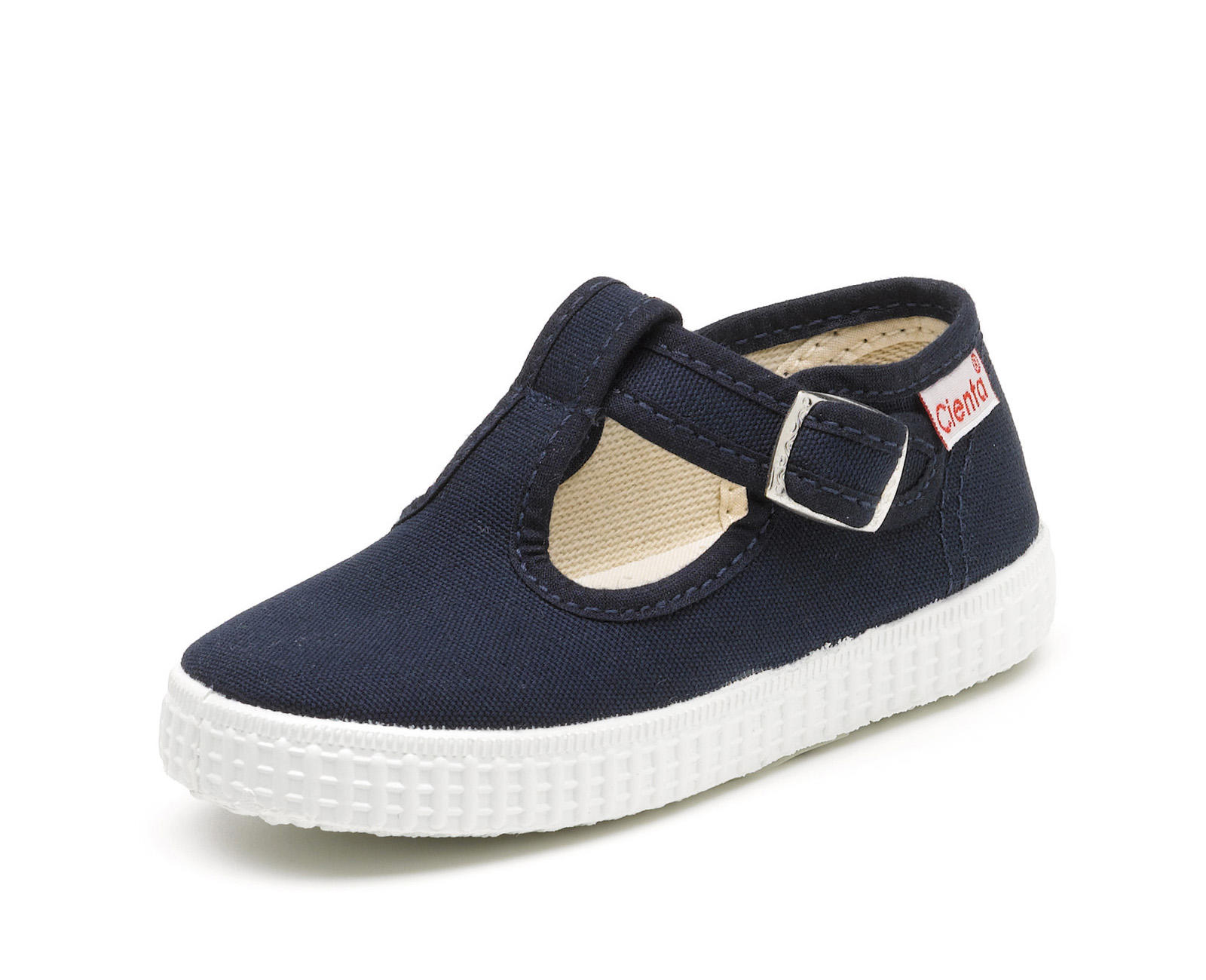 Navy T Bar Canvas Shoe