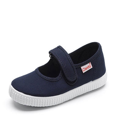 Cienta Kids Navy Canvas Girls Shoes