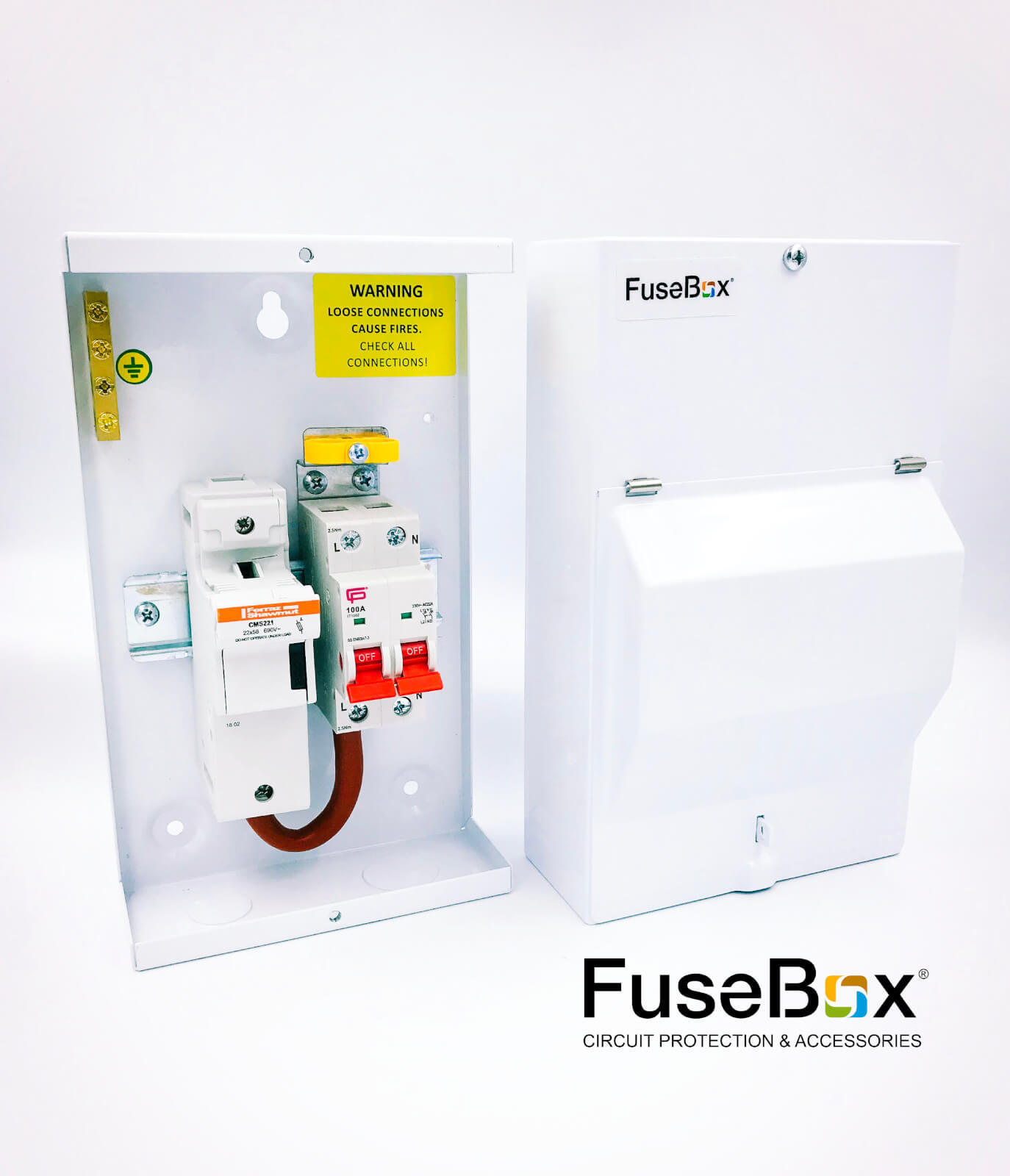 Sf0100 Fusebox Metal Clad Fused Mains Switch Isolator 100a 1p N Inc Fuse Box Fuses 63a 80a