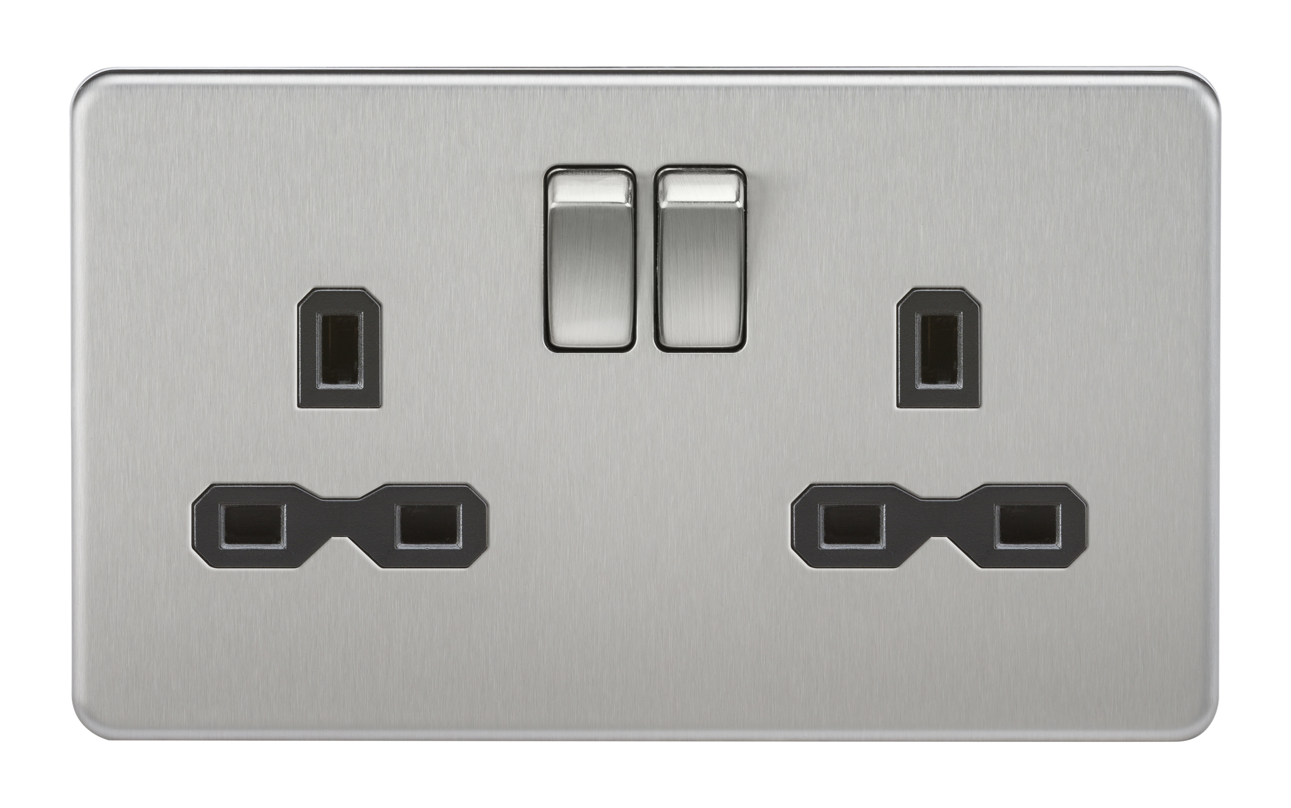 Sfr9000bc Screwless 13a 2 Gang Dp Switched Socket