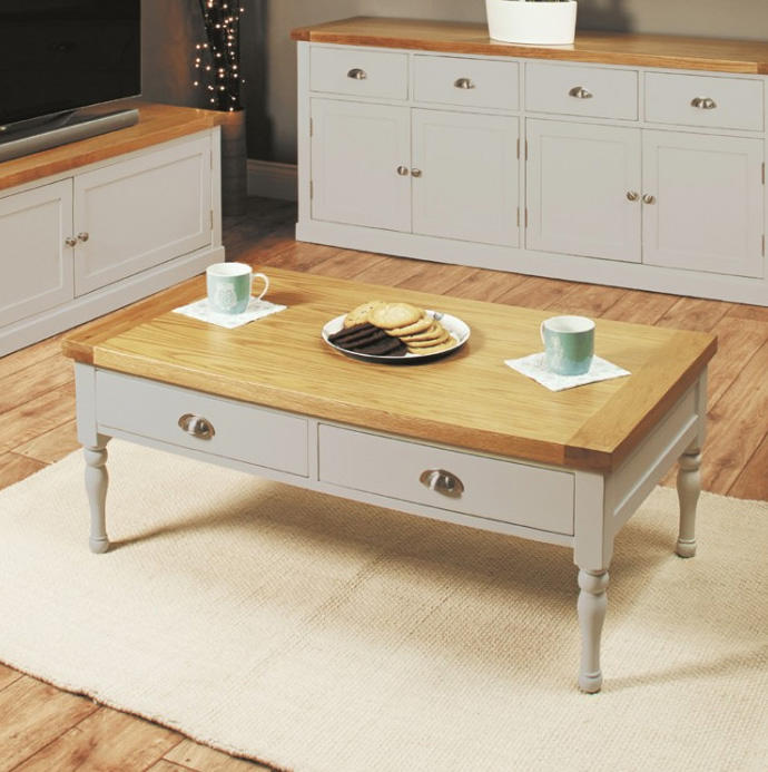 baumhaus chadwick oak and grey four drawer coffee table baumhaus aston oak coffee table