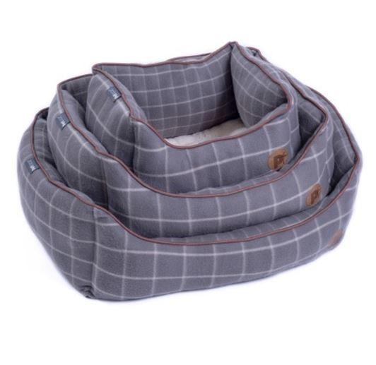 Petface Window Pane Grey Fleece Square