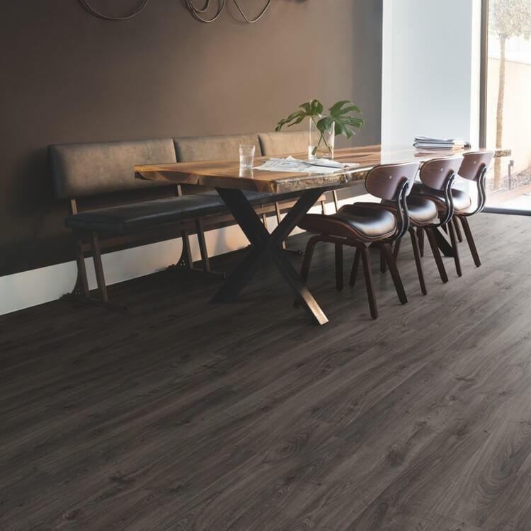 Quick Step Eligna Newcastle Oak Dark Planks El3581 Hydroseal Laminate Flooring