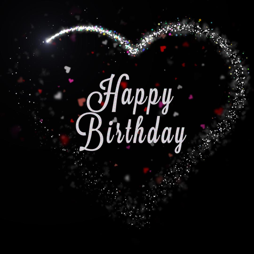 Happy Birthday Starry Heart Animation