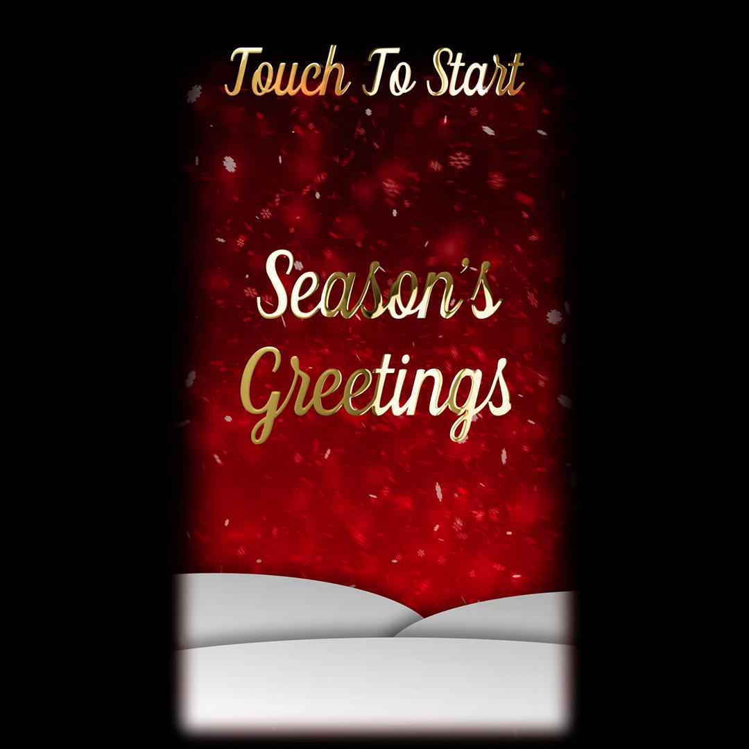 Red seasons greetings touch button animation for mirror me m4hsunfo