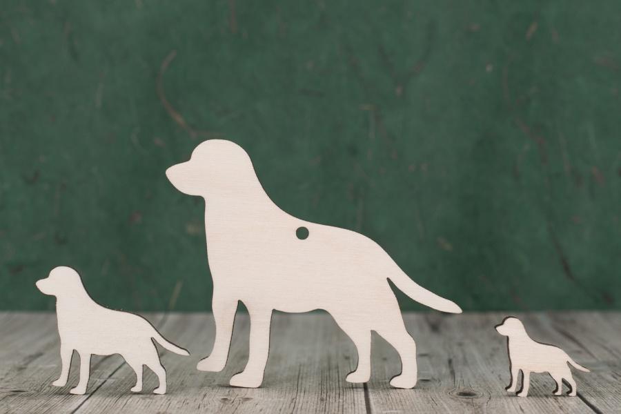 Wooden Dog Craft Shapes, Laser Cut Pet Blanks
