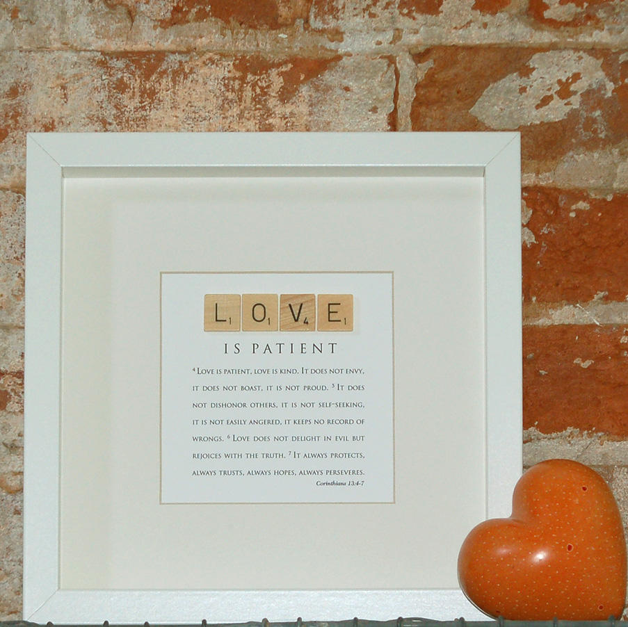 Love Is Patient Quote Wedding Gifts  Love Is Patient Love Is Kind