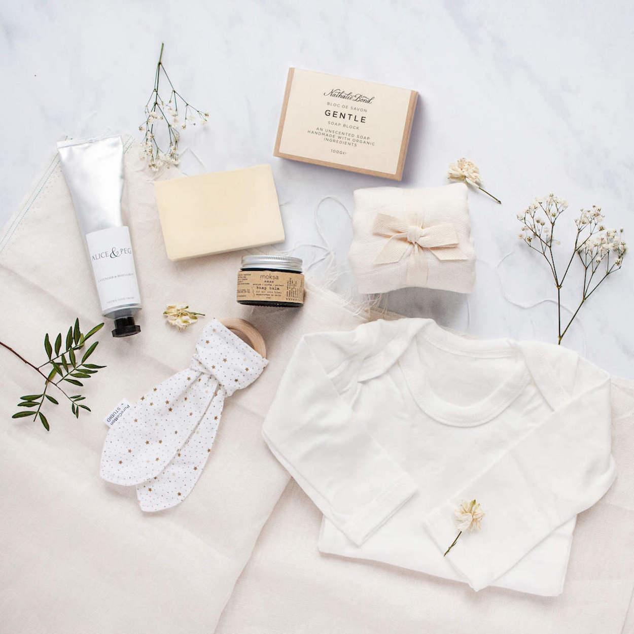 Vegan Baby Shower Gift Set Ethical Eco Friendly New Mums Hamper