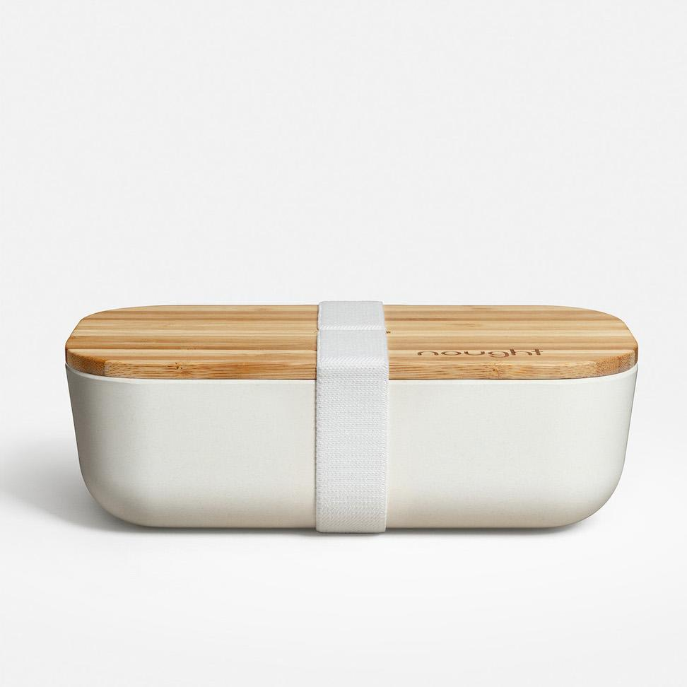 Reusable Lunch Box With Bamboo Lid Stylish Eco Friendly