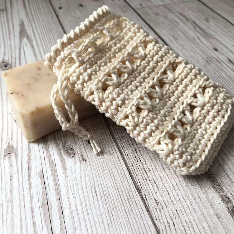 Cotton Soap Saver Bag Handmade Soap Bag Eco Friendly