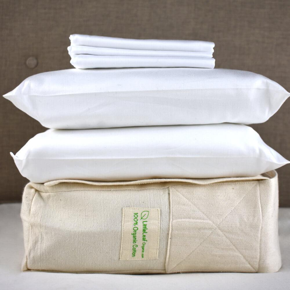 Pure White Organic Bed Sheets Eco