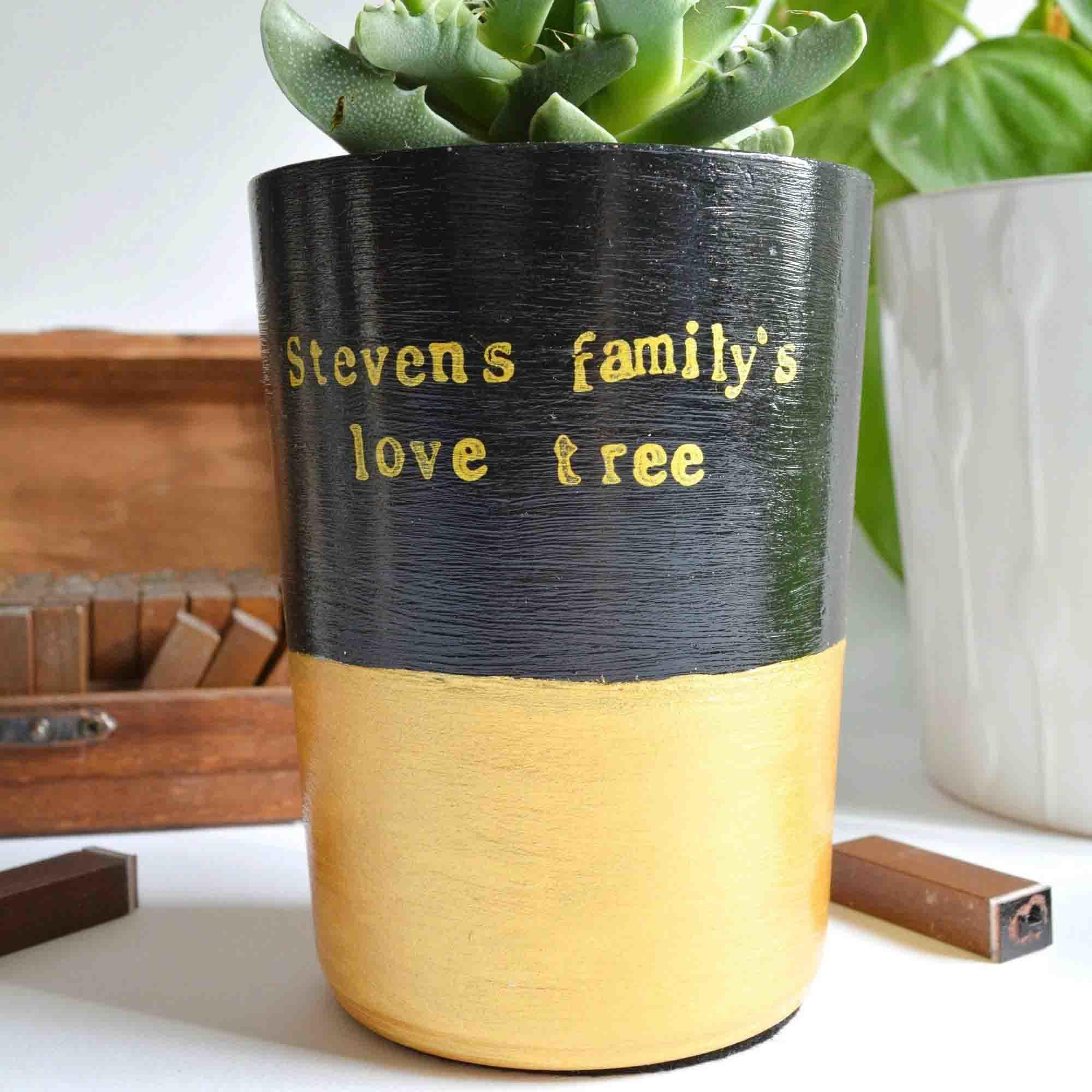 Personalised Plant Pot Personalised Planter For Cactus Succulents Uk