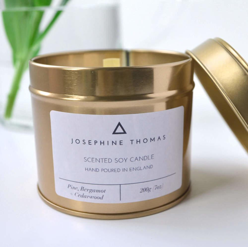 Soy Scented Candle (Gold)