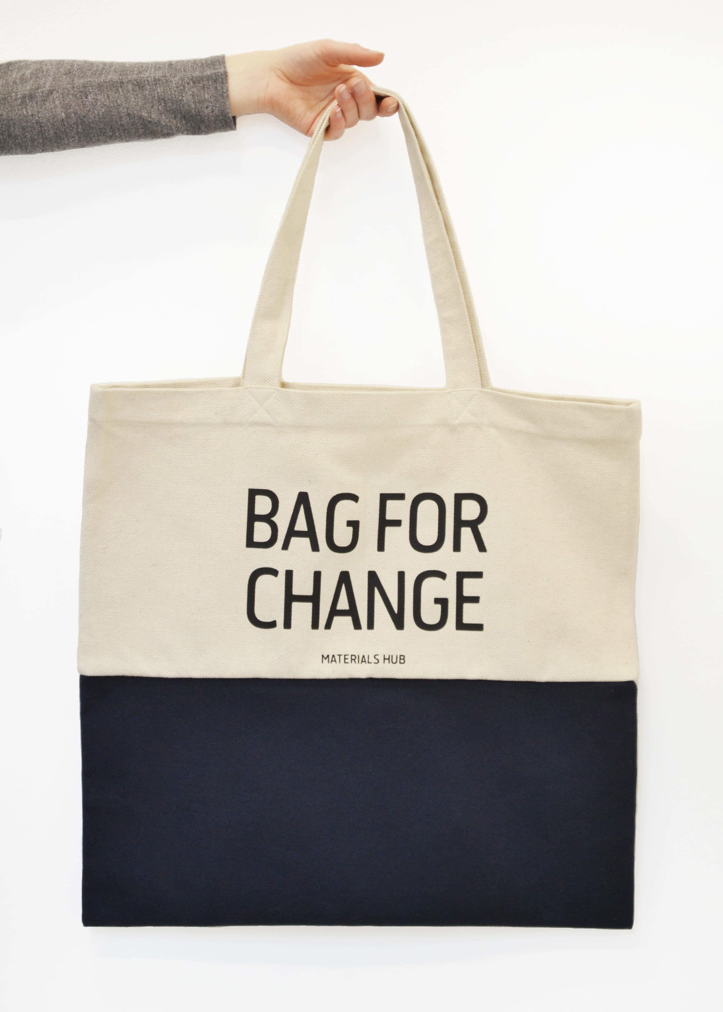 Recycled Large Tote Bag Zero Waste Grocery Shopping Bag