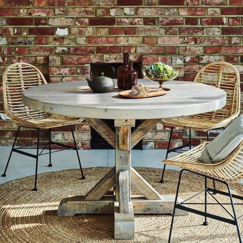 Reclaimed Round Dining Table Handmade, Round Reclaimed Dining Table