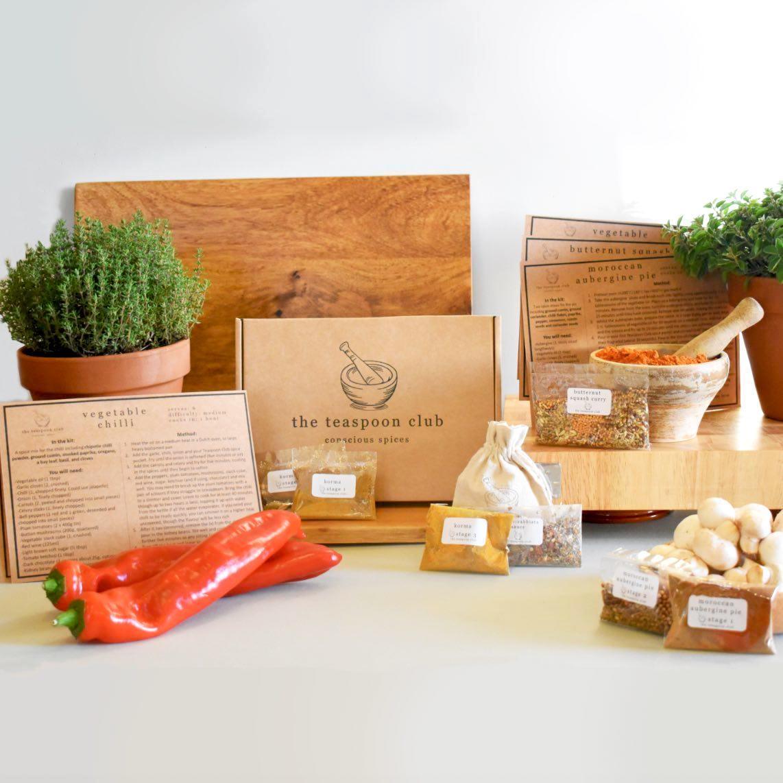 Vegan Spices Gift Box Plant Based Recipe Ideas Gift Set